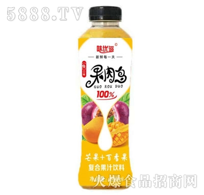 味优滋芒果+百香果复合果汁饮料500ml