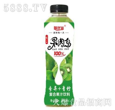 味优滋奇异+青柠复合果汁饮料500ml