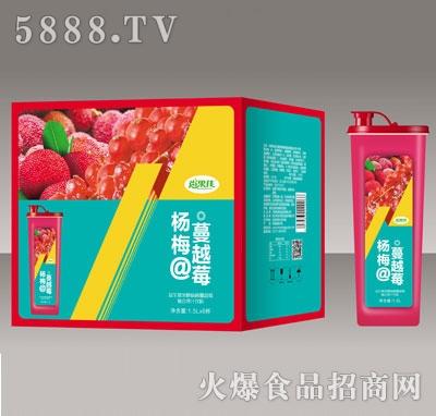尚果佳益生菌发酵杨梅蔓越莓复合果汁1.5LX6
