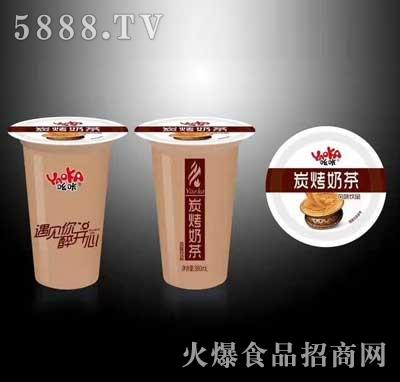 吆咔炭烧奶茶380ml