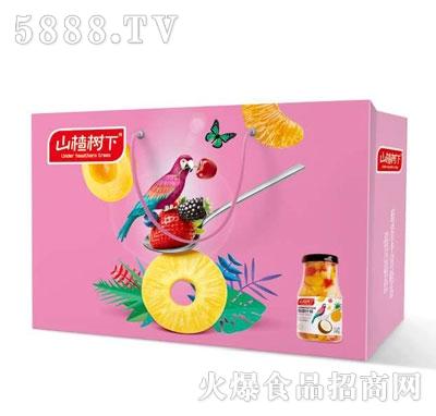 山楂树下水果罐头产品图