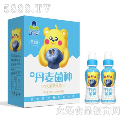 益正元乳酸菌饮品蓝莓味200mlX16