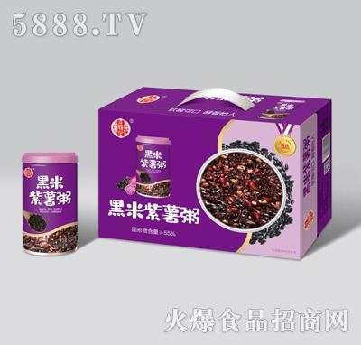 庄锦记黑米紫薯粥