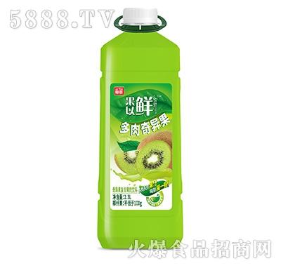 椰泰果以鲜奇异果复合果肉果汁2.3L