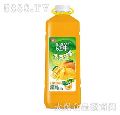 椰泰果以鲜芒果复合果肉果汁2.3L