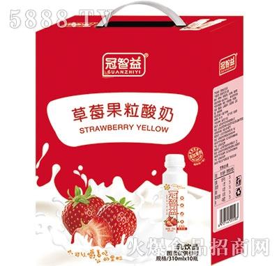 冠智益草莓果粒酸奶礼盒
