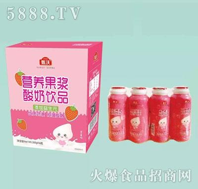 甄沃营养果浆酸奶饮品200gX16(瓶)