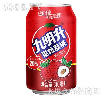 九明升果粒荔枝复合果汁310ml