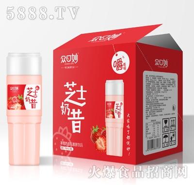 众口妙草莓奶昔乳酸菌饮品950mlX6
