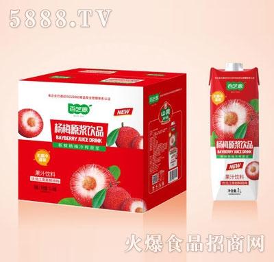百芝源杨梅果汁饮料1LX6