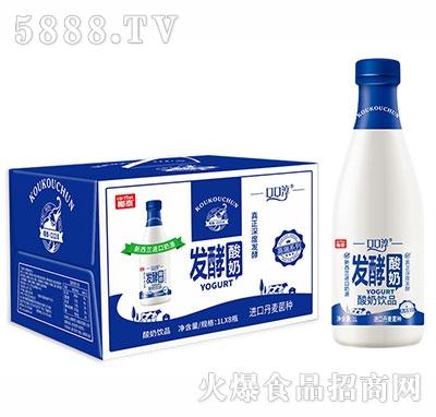 椰泰口口淳发酵酸奶饮品1Lx8