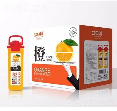 �口妙橙汁�O果汁�秃瞎�汁�料1.5LX6