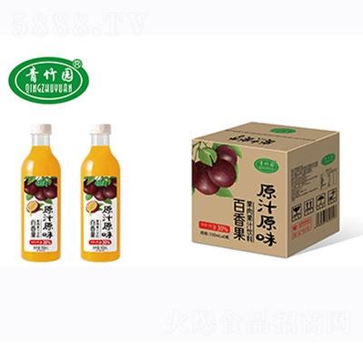 青竹园百香果果肉果汁饮料930mlx6瓶