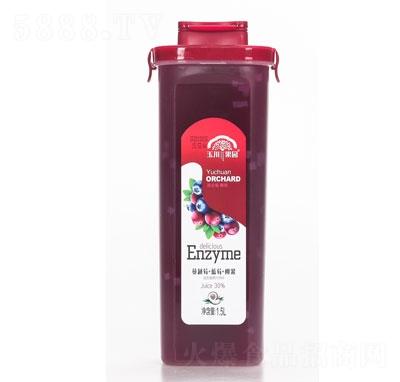 玉川果先生蔓越莓+蓝莓+椰果益生菌果汁饮品1.5L