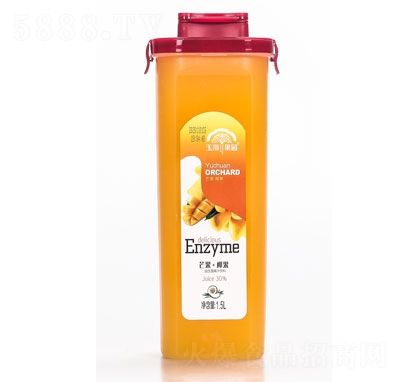 玉川果先生芒果+椰果益生菌果汁饮品1.5L