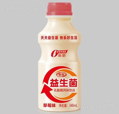 睿田益生菌乳酸菌饮品草莓味340ml