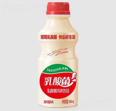 睿田乳酸菌饮品草莓味340ml