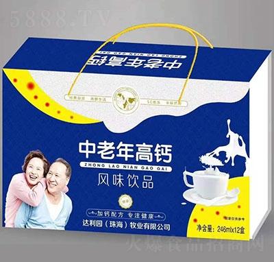 达利园中老年高钙风味饮品礼盒装246mlx12