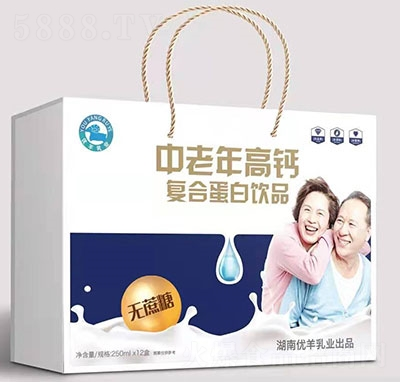 优羊中老年高钙复合蛋白饮料250mlx12