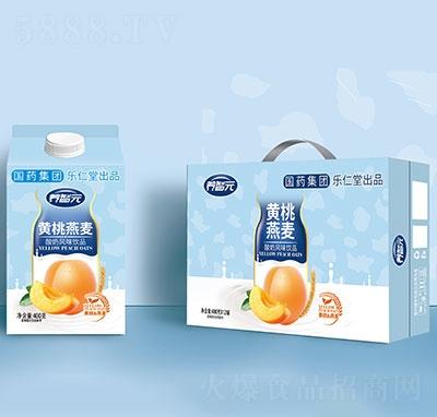 养智元黄桃燕麦酸奶饮品400gx12罐