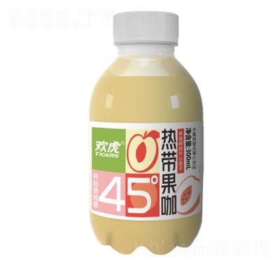 欢虎热带果咖水蜜桃复合果汁饮料300ml