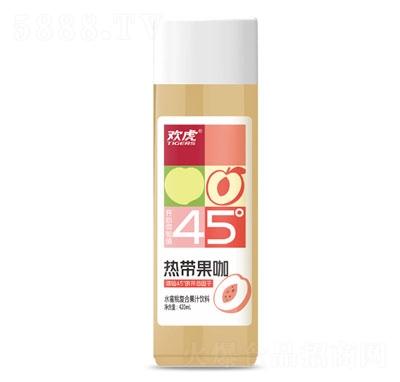 欢虎热带果咖水蜜桃复合果汁饮料420ml