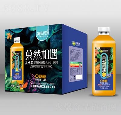 发财雨�然相遇益生菌发酵甜橙复合果汁饮料1.2LX6