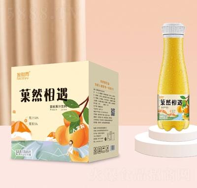 发财雨�然相遇大果粒黄桃果汁饮料1.25LX6