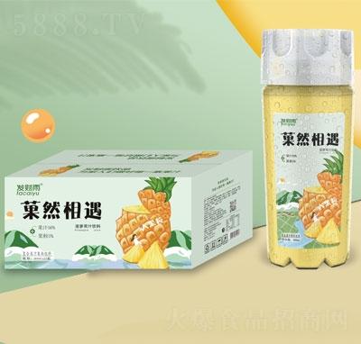 发财雨�然相遇大果粒菠萝果汁饮料360mlX15