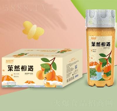 发财雨�然相遇大果粒黄桃果汁饮料360mlX15