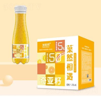 发财雨�然相遇奇亚籽金桔柠檬复合果汁饮料1.25LX6