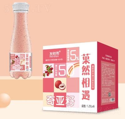 发财雨�然相遇奇亚籽荔枝复合果汁饮料1.25LX6