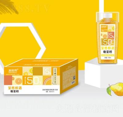 发财雨�然相遇奇亚籽金桔柠檬复合果汁饮料360mlX15