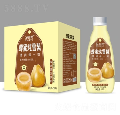发财雨蜂蜜炖梨1.25LX6