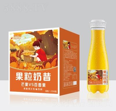 发财雨果粒奶昔芒果VS百香果乳味饮料1.25LX6