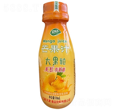 欢乐滋芒果果粒果汁310ml