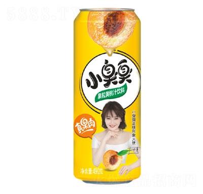 小臭臭果粒黄桃汁饮料490g