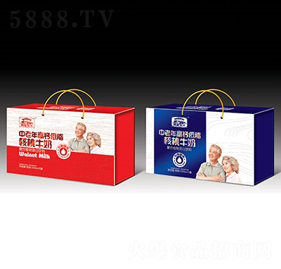 蓉城人家中老年高钙低脂核桃牛奶礼盒