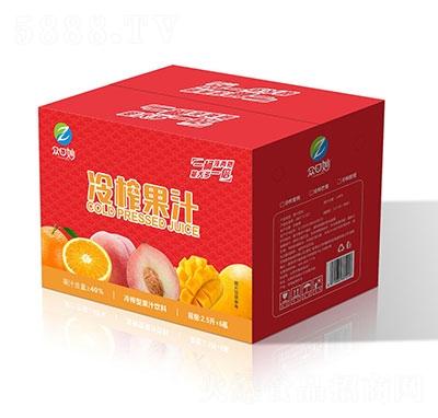 �口妙冷榨果汁�料2.5LX6