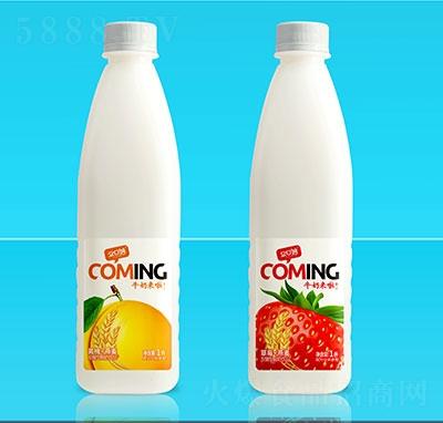 �口妙牛奶�砝舶l酵型酸奶�品1L