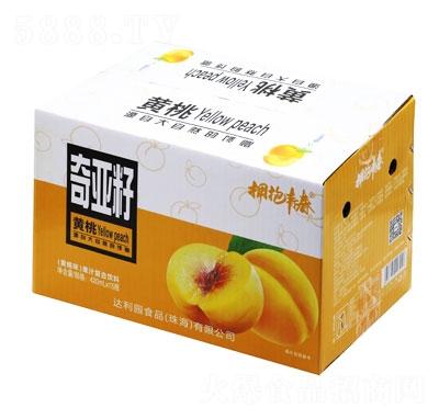 拥抱青春奇亚籽果汁复合饮料黄桃味420mlX15