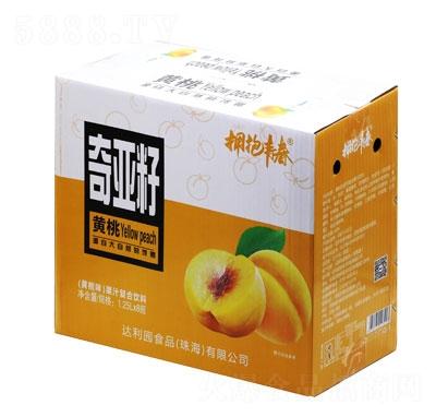 拥抱青春奇亚籽果汁复合饮料黄桃味1.25LX8