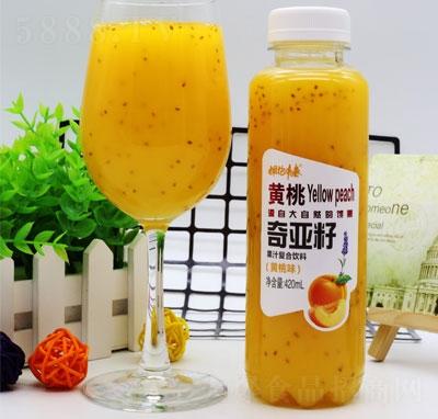 拥抱青春奇亚籽果汁复合饮料黄桃味420ml(瓶装)
