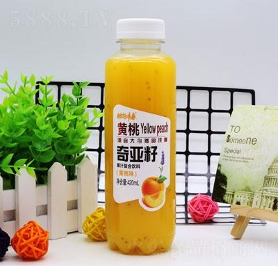 拥抱青春奇亚籽果汁复合饮料黄桃味420ml(瓶)