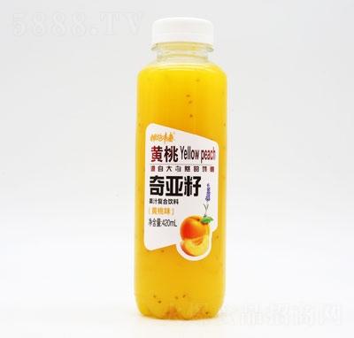 拥抱青春奇亚籽果汁复合饮料黄桃味420ml