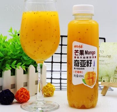 拥抱青春奇亚籽果汁复合饮料芒果味420ml(瓶装)
