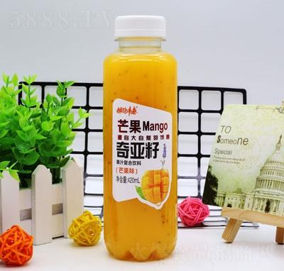 拥抱青春奇亚籽果汁复合饮料芒果味420ml(瓶)