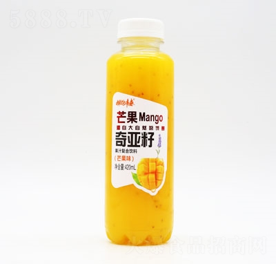 拥抱青春奇亚籽果汁复合饮料芒果味420ml