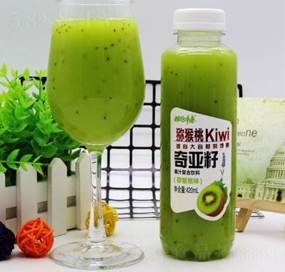 拥抱青春奇亚籽果汁复合饮料猕猴桃味420ml(瓶装)
