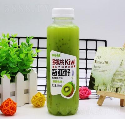 拥抱青春奇亚籽果汁复合饮料猕猴桃味420ml(瓶)